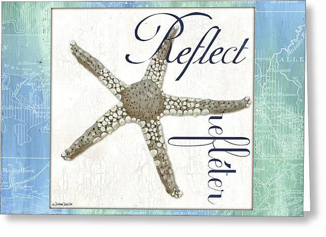 Reflecting Greeting Cards - Sea Glass 3 Greeting Card by Debbie DeWitt