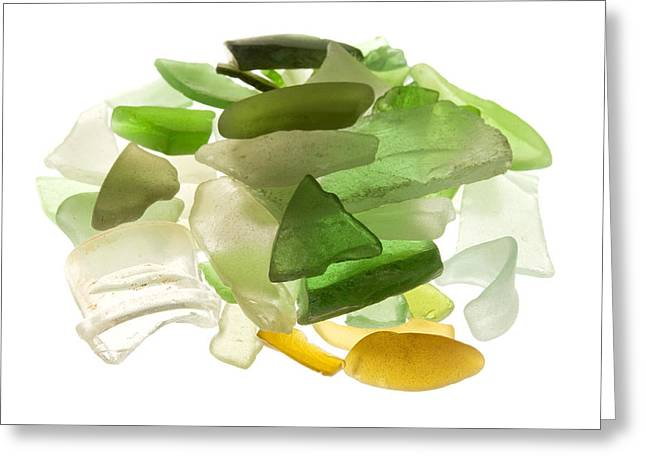 Wasted Greeting Cards - Sea glass Greeting Card by Fabrizio Troiani