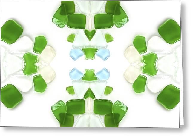 Seas Glass Greeting Cards - Sea Glass Greeting Card by John Seaton Callahan