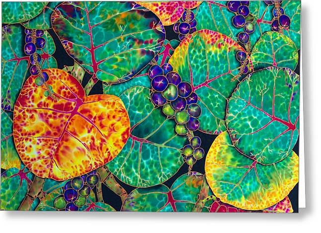 Fruit Tree Art Greeting Cards - Sea  Grapes Greeting Card by Daniel Jean-Baptiste