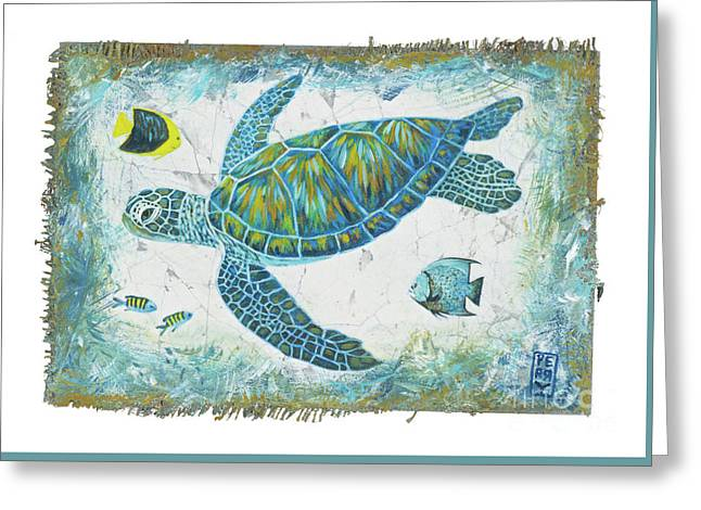 Sea Green Greeting Card by Danielle Perry