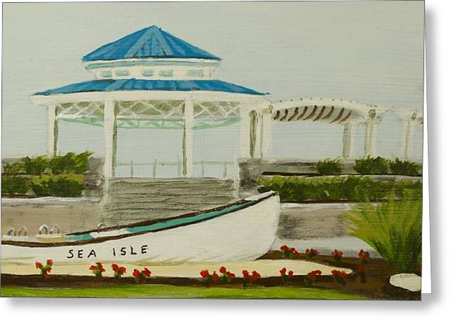 Jersey Shore Paintings Greeting Cards - Sea Isle City New Jersey Gazebo Greeting Card by Patty Kay Hall