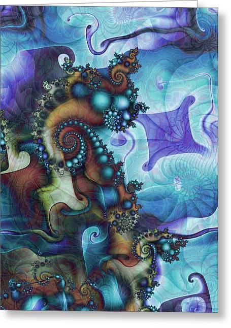 Fractal Greeting Cards - Sea Jewels Greeting Card by David April