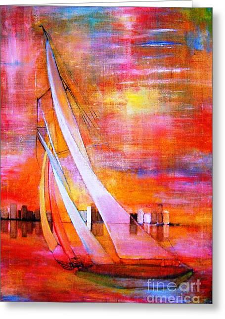 Sea Joy Greeting Card by Patricia Velasquez de Mera