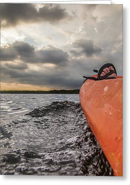 Mangrove Forest Greeting Cards - Sea Kayaking Greeting Card by Ben Adkison