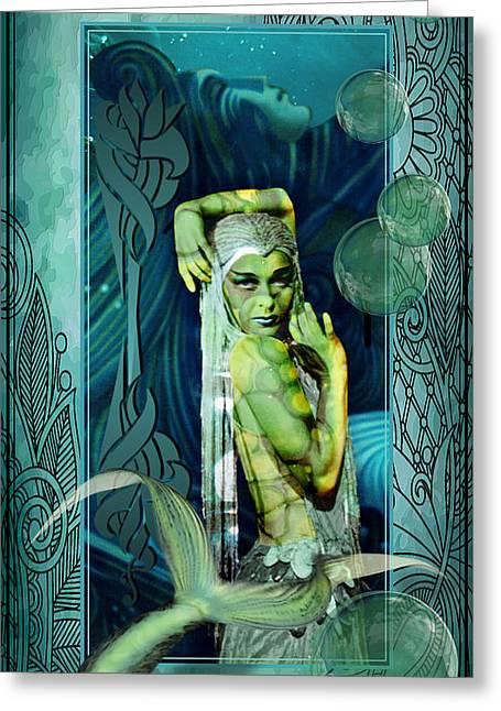 Sea Legend Mermaid Greeting Card by Robert G Kernodle