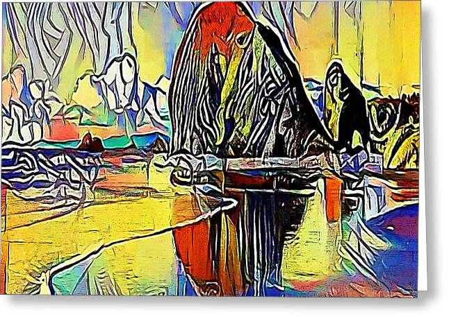 sea loch - My WWW vikinek-art.com Greeting Card by Viktor Lebeda