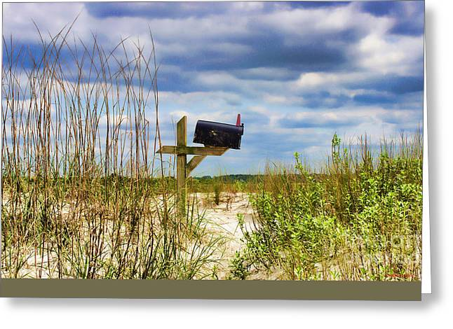 Sand Art Greeting Cards - Sea Mail West Greeting Card by Roberta Byram
