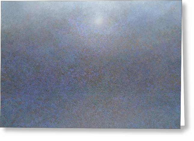 Foggy Ocean Paintings Greeting Cards - Sea Mist Greeting Card by Jeremy Annett