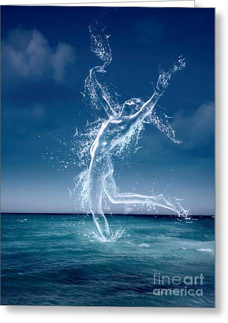 Reach Greeting Cards - Sea Nymph Greeting Card by Amanda And Christopher Elwell