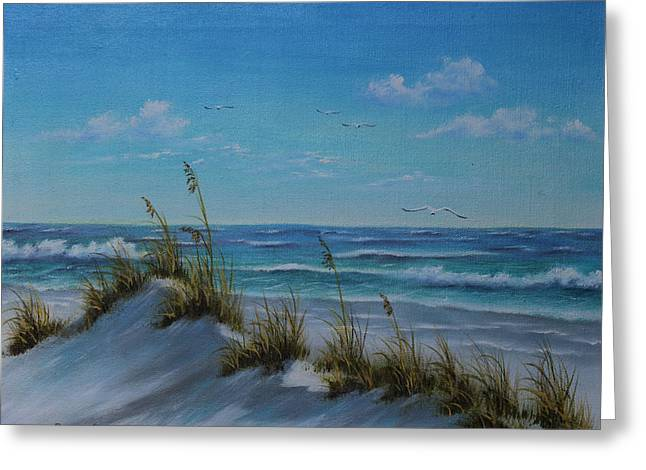 Sand Dunes Paintings Greeting Cards - Sea Oats Greeting Card by Rosie Brown