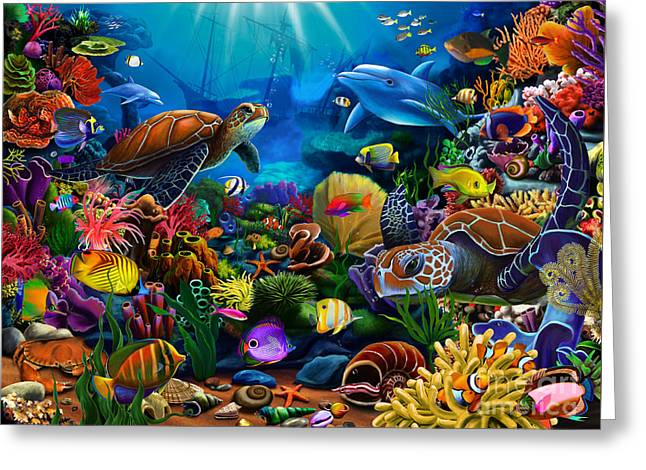 Scuba Diving Greeting Cards - Sea of Beauty Greeting Card by Gerald Newton