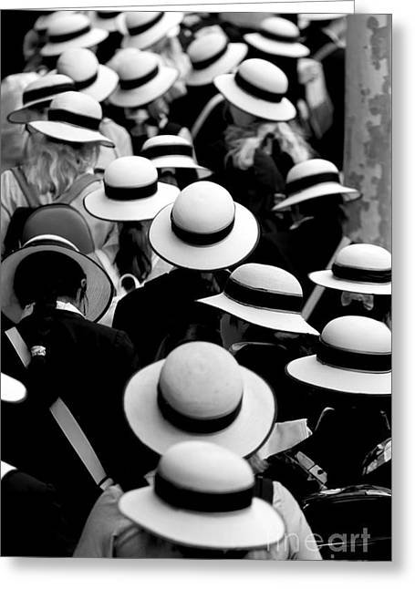Sea Of Hats Greeting Card by Avalon Fine Art Photography