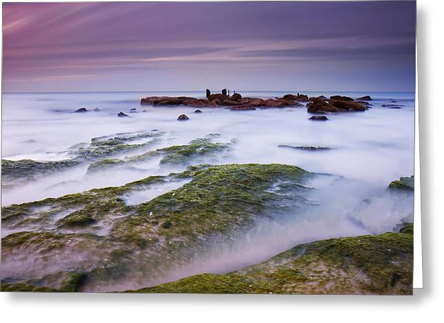 Smoothed Greeting Cards - Sea Of Milk Greeting Card by Amnon Eichelberg