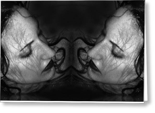 Self-portrait Photographs Greeting Cards - Sea of Pain - Self Portrait Greeting Card by Jaeda DeWalt