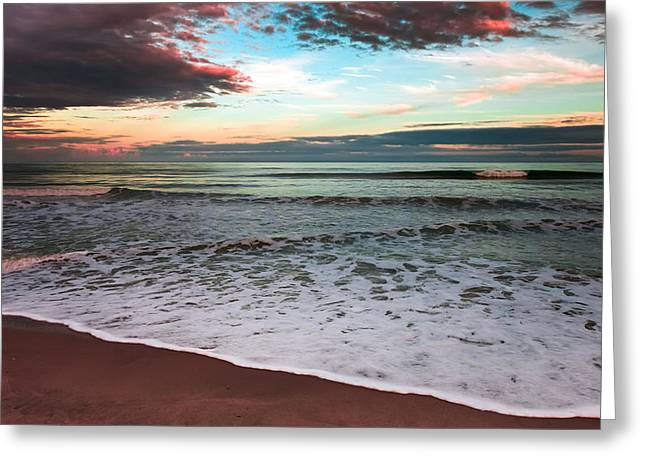 Enhanced Greeting Cards - SEA of SERENITY Greeting Card by Karen Wiles
