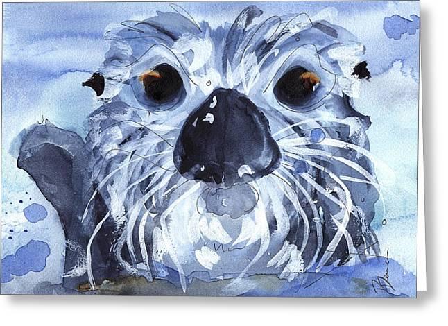 Sea Otter Greeting Card by Dawn Derman