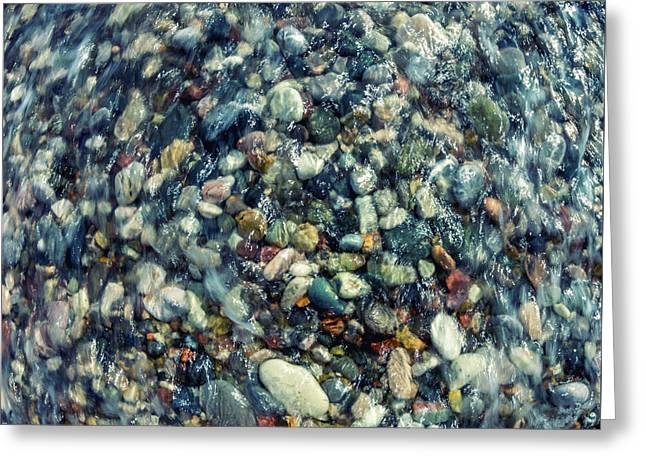 Sea Pebbles Greeting Card by Stelios Kleanthous