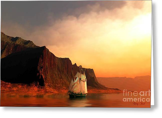 Sailboat Images Digital Greeting Cards - Sea Raven Greeting Card by Corey Ford