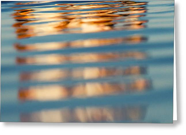 Ocean. Reflection Greeting Cards - Sea Reflection 2 Greeting Card by Stylianos Kleanthous