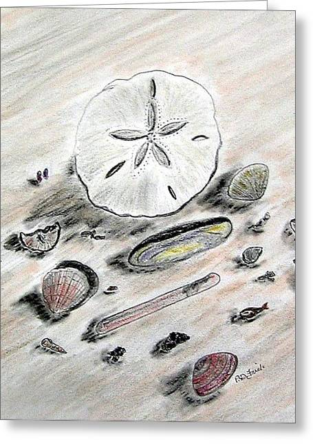 Atlantic Beaches Pastels Greeting Cards - Sea Shells Greeting Card by Diane Frick