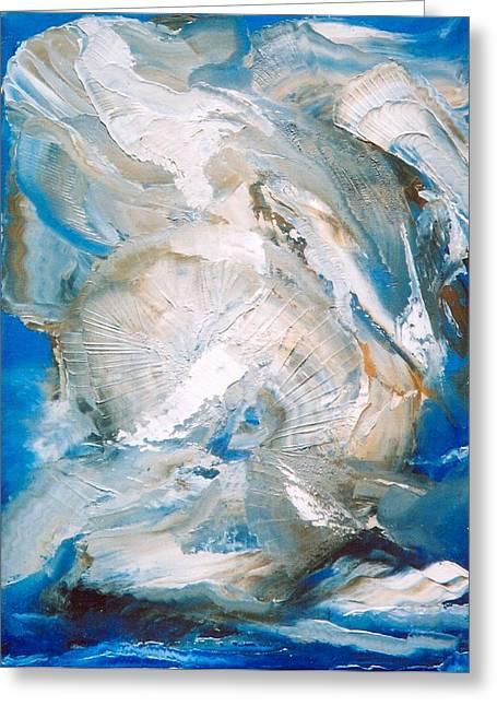 Sea Shells Greeting Card by M Diane Bonaparte