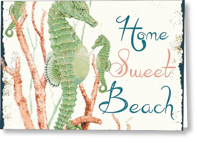 Sea Shell Art Greeting Cards - Sea Side-JP2730 Greeting Card by Jean Plout