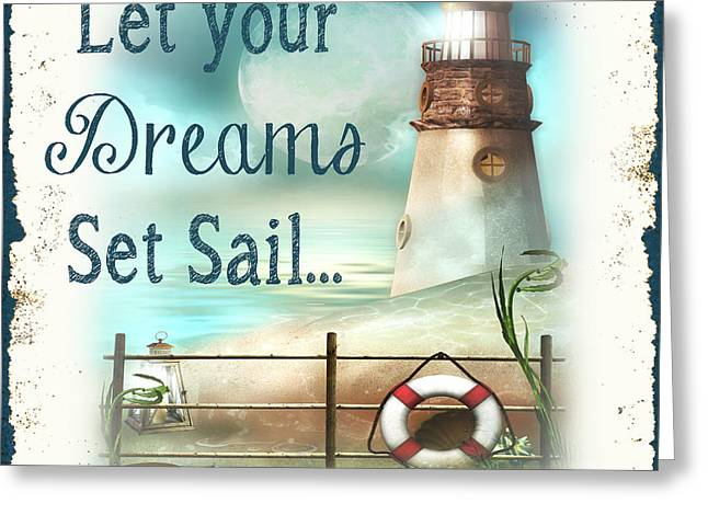 Sea Life Digital Art Greeting Cards - Sea Side-JP2733 Greeting Card by Jean Plout