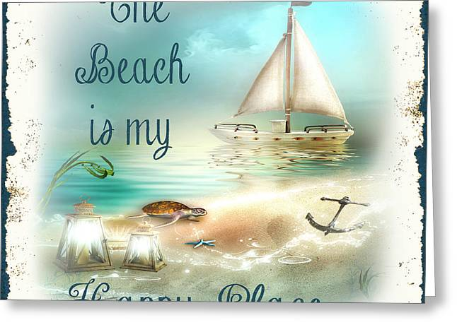 Sea Shell Art Greeting Cards - Sea Side-JP2734 Greeting Card by Jean Plout