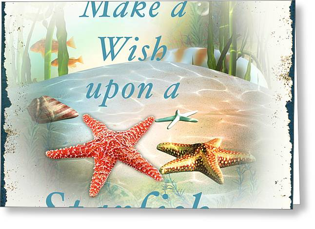 Sea Life Digital Art Greeting Cards - Sea Side-JP2735 Greeting Card by Jean Plout
