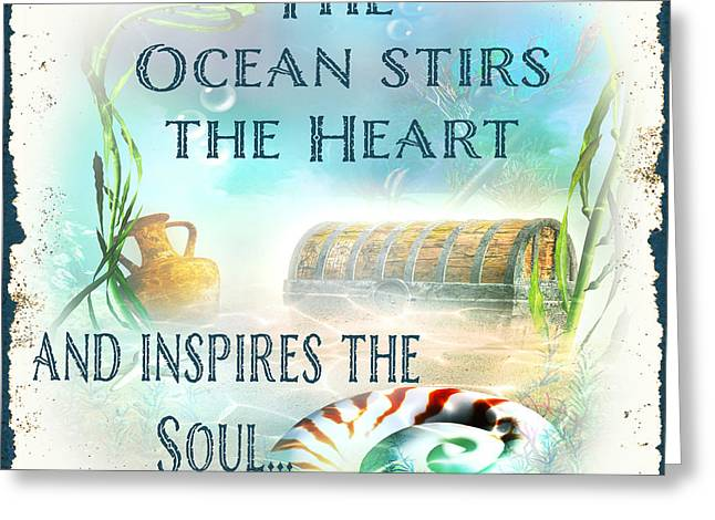 Sea Life Digital Art Greeting Cards - Sea Side-JP2736 Greeting Card by Jean Plout