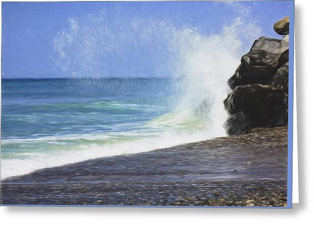 Clemente Mixed Media Greeting Cards - Sea Spray Greeting Card by Susan Lupton