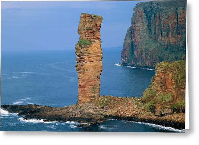 Geomorphology Greeting Cards - Sea Stack Greeting Card by Michael Marten