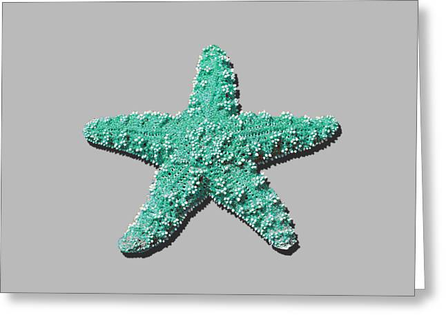 Sea Star Aqua .png Greeting Card by Al Powell Photography USA