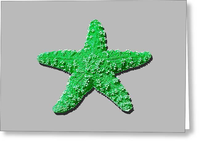 Star Fish Greeting Cards - Sea Star Green .png Greeting Card by Al Powell Photography USA