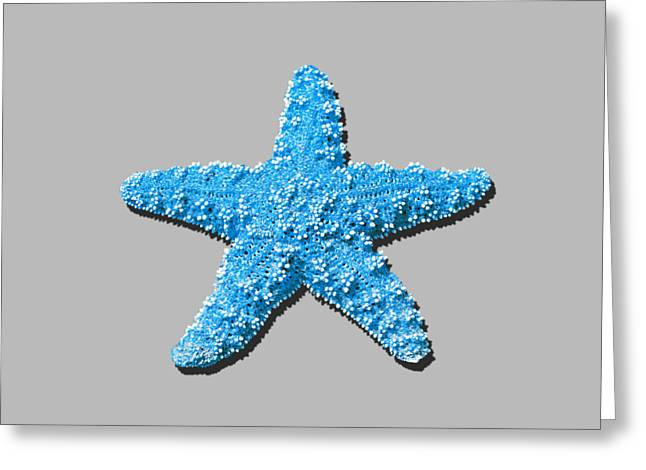 Star Fish Greeting Cards - Sea Star Light Blue .png Greeting Card by Al Powell Photography USA
