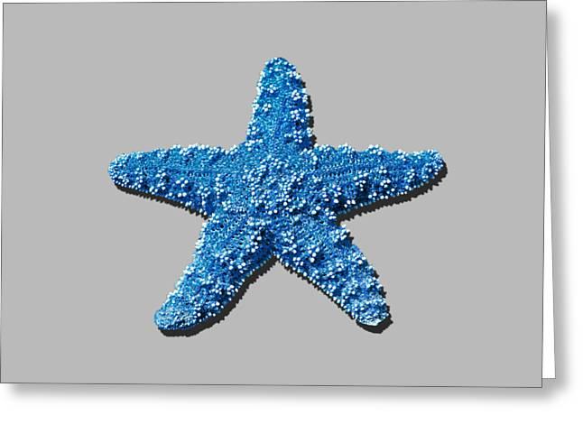 Sea Star Medium Blue .png Greeting Card by Al Powell Photography USA