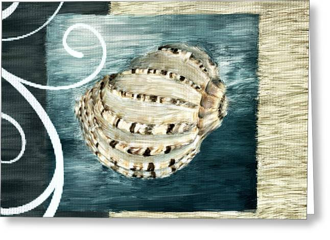 Shell Pattern Greeting Cards - Sea Treasure Greeting Card by Lourry Legarde