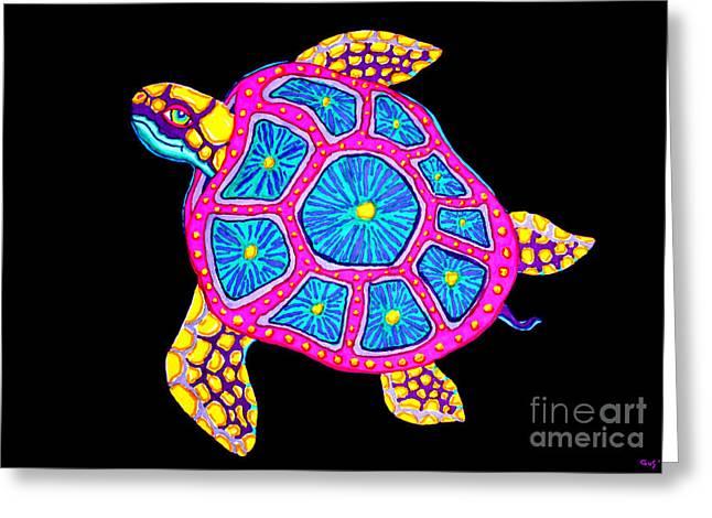 Sea Turtle Greeting Card by Nick Gustafson