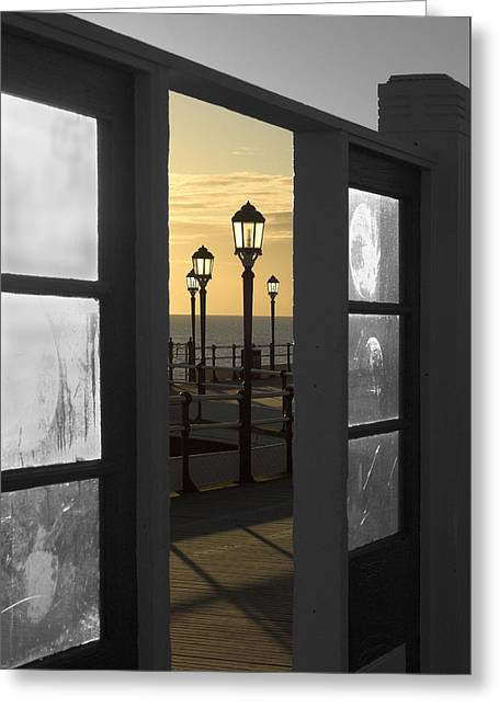 Sea View Greeting Card by Hazy Apple