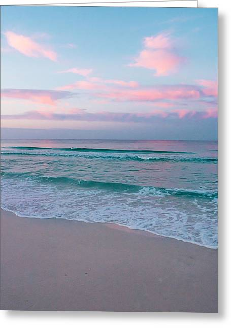 Florida House Greeting Cards - Sea Water at Sunrise Greeting Card by Shelby  Young