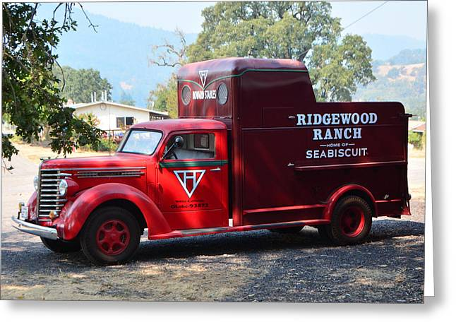 Ridgewood Greeting Cards - Seabiscuits Truck Greeting Card by Josephine Buschman