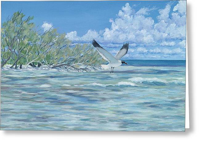 Bimini Greeting Cards - SeaBlue Greeting Card by Danielle  Perry