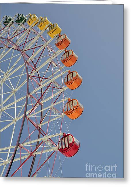 Osaka Greeting Cards - Seacle ferris wheel Greeting Card by Andy Smy
