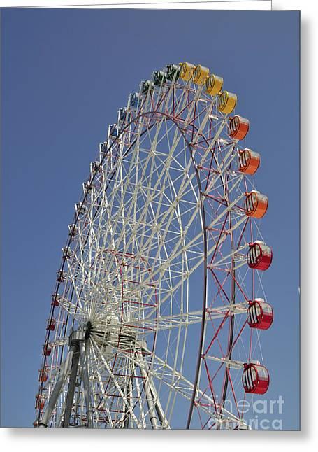 Ferris Wheel Greeting Cards - Seacle Rinku Pleasure Town ferris wheel Greeting Card by Andy Smy
