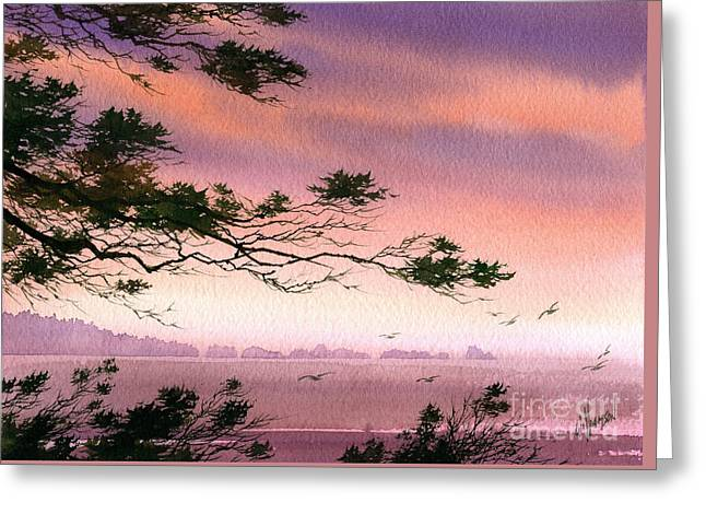 Sunset Greeting Cards Greeting Cards - Seacoast Dream Greeting Card by James Williamson