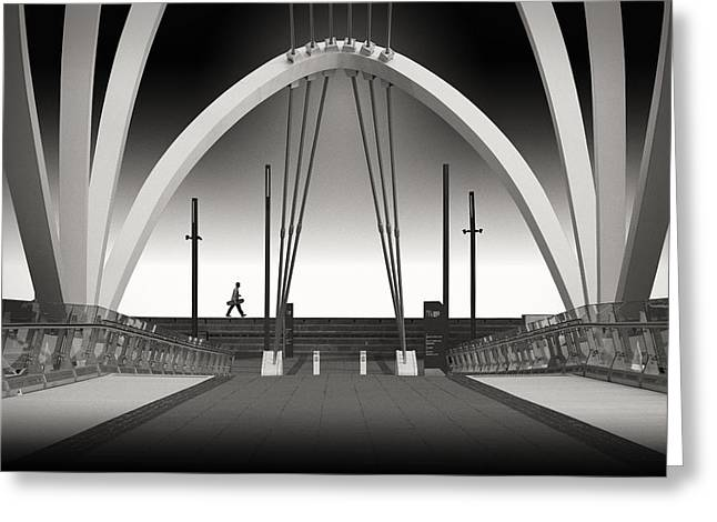 Melbourne Photographs Greeting Cards - Seafarers Bridge Greeting Card by Adrian Donoghue