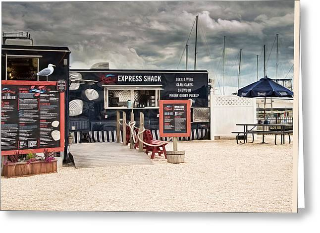 Lobster Shack Greeting Cards - Seafood Express Greeting Card by Robin-lee Vieira