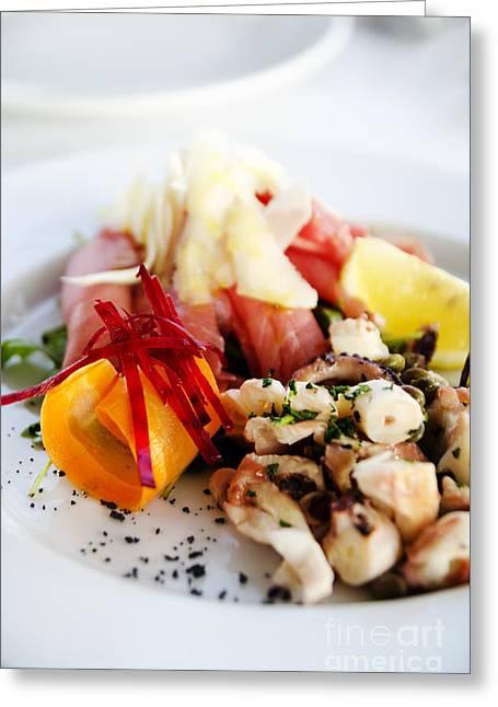 Seafood Greeting Card by Jelena Jovanovic