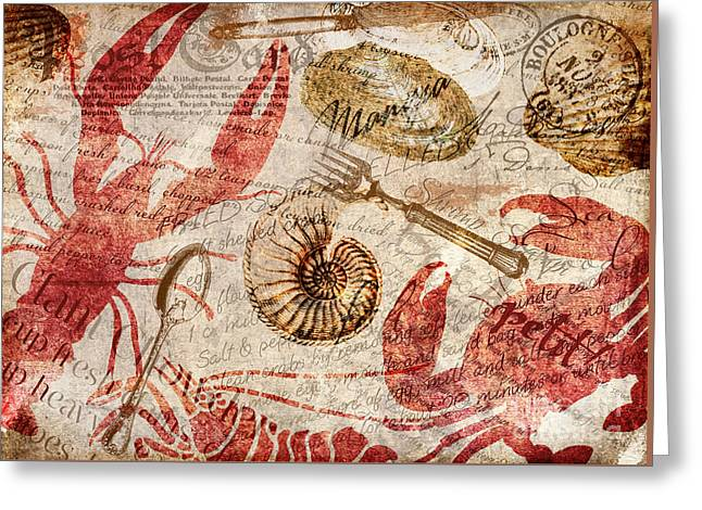 Shack Greeting Cards - Seafood Restaurant Postcard Greeting Card by Mindy Sommers